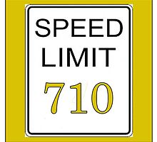 Speed Limit 710 by 420Stickers