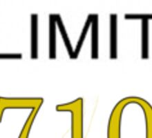 Speed Limit 710 Sticker