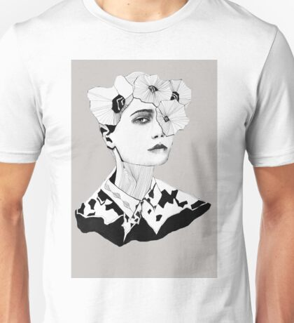 With flowers Unisex T-Shirt