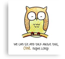 Owl - Words of Life Canvas Print