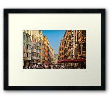 Innsbruck Street Framed Print