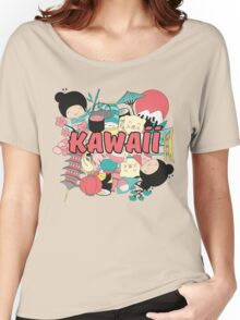 Kawaii Japanese Style Cuteness Design  Women's Relaxed Fit T-Shirt