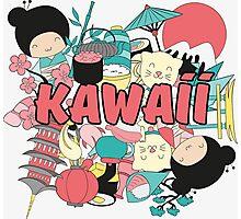 Kawaii Japanese Style Cuteness Design  Photographic Print