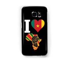 I Love Africa Map Black Power Cameroon Flag T-Shirt Samsung Galaxy Case/Skin