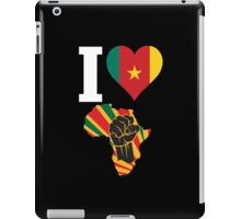 I Love Africa Map Black Power Cameroon Flag T-Shirt iPad Case/Skin