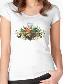 Hogwarts crest Women's Fitted Scoop T-Shirt