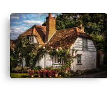 A Chiltern Cottage in Turville, Buckinghamshire Canvas Print