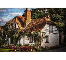 A Chiltern Cottage in Turville, Buckinghamshire Photographic Print