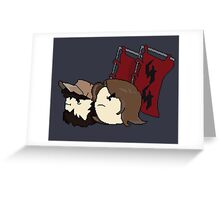 REDFLAG HOROWITZ Greeting Card