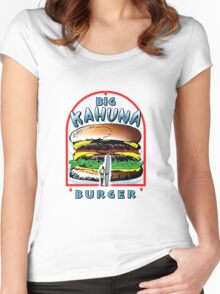 "Big ""KAHUNA"" Burger On Sesame Light Women's Fitted Scoop T-Shirt"