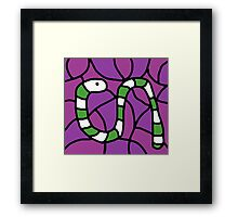 Green snake Framed Print