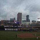 Target Field Skyline - Minnesota Twins by worldwideart