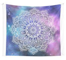 Mandala - white galaxy Wall Tapestry