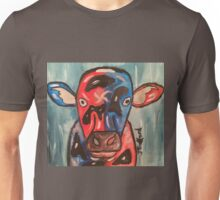 A cow that been on the wrong sort of grass Unisex T-Shirt