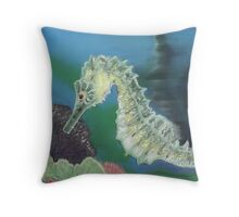 The Seahorse Throw Pillow