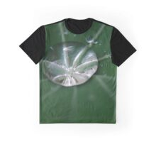 Rain on Nasturtium Leaf Graphic T-Shirt