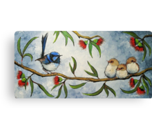 Wren Family Canvas Print