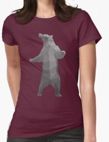 Standing bear vector Womens Fitted T-Shirt