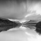 Llyn Padarn black and white by Mike Hulme