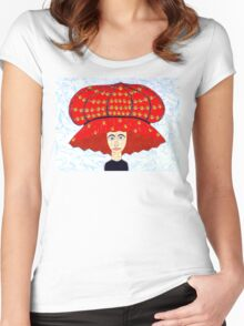 20th Century English Boudoir Hat Women's Fitted Scoop T-Shirt