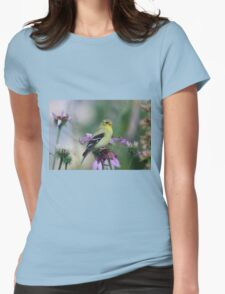 American Goldfinch - female Womens Fitted T-Shirt