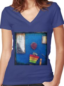 Angels and Rainbows Women's Fitted V-Neck T-Shirt