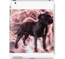 Staffordshire Bull Terrier - Pink Smoke iPad Case/Skin