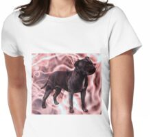 Staffordshire Bull Terrier - Pink Smoke Womens Fitted T-Shirt