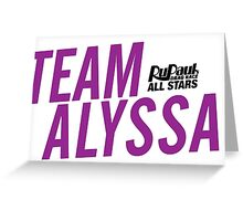 Team Alyssa Greeting Card