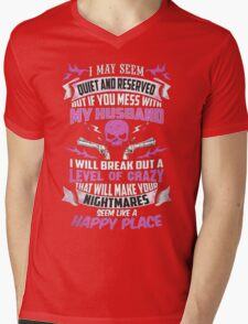 Mess with My Husband Mens V-Neck T-Shirt