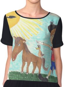 Pirate Boy Aaron and the Mystery of the Space Princess Chiffon Top