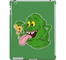 Slimer eating pizza iPad Case/Skin