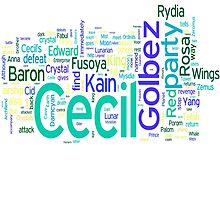 Final Fantasy IV Word Cloud by Ryan Bamsey