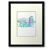Final Fantasy IV Word Cloud Framed Print