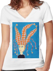 Jester Women's Fitted V-Neck T-Shirt
