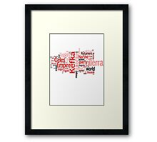 Final Fantasy VI Word Cloud Framed Print
