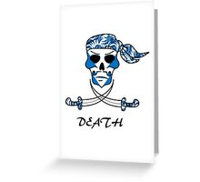 Cool Death Skull Greeting Card