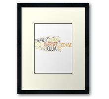 Final Fantasy IX Word Cloud Framed Print