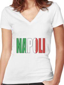 Napoli. Women's Fitted V-Neck T-Shirt