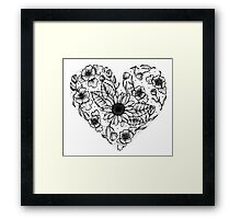 Floral Love Heart Framed Print