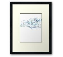 Final Fantasy XI Word Cloud Framed Print