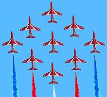 Red Arrows - 50th Display Season by mudandcustard