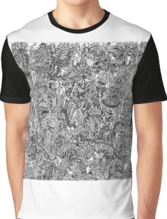 Psychedelic Cartoon (B/W) Graphic T-Shirt