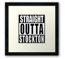 Nate Diaz Nick Diaz, Straight Outta Stockton Framed Print