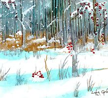 Silver and Gold Forest by Linda Ginn Art