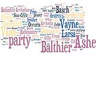 Final Fantasy XII Word Cloud by Ryan Bamsey