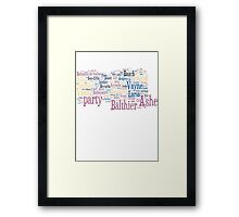Final Fantasy XII Word Cloud Framed Print