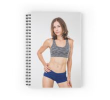 Fitness, sport, training women in sport clothing Spiral Notebook