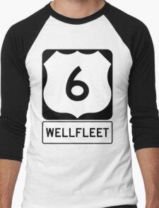 US 6 - Wellfleet Massachusetts Men's Baseball ¾ T-Shirt