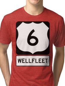 US 6 - Wellfleet Massachusetts Tri-blend T-Shirt